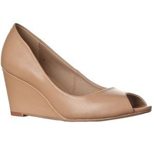 Riverberry Addie Mid-Height Peep Toe Wedge Shoes